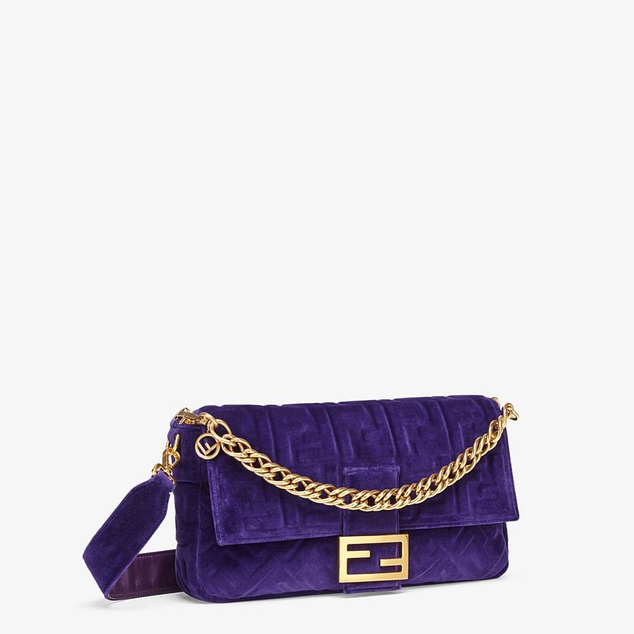 FENDI BAGUETTE GROSSE - Tasche aus Samt in Violett - view 2 detail