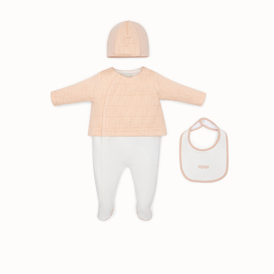 FENDI SET - Pink cotton baby kit - view 1 detail