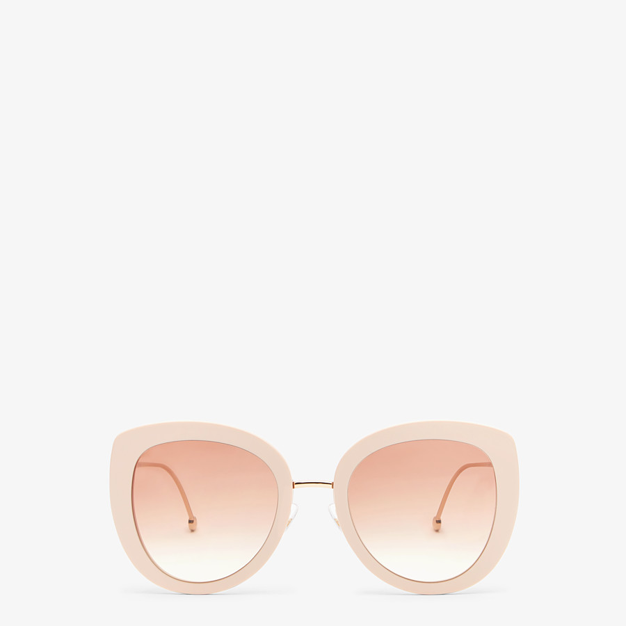 FENDI F IS FENDI - Pink acetate and metal sunglasses - view 1 detail