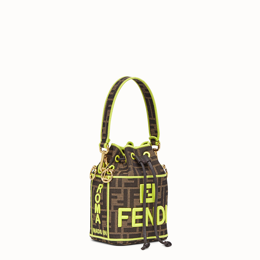 FENDI MON TRESOR - Fendi Roma Amor fabric mini-bag - view 2 detail