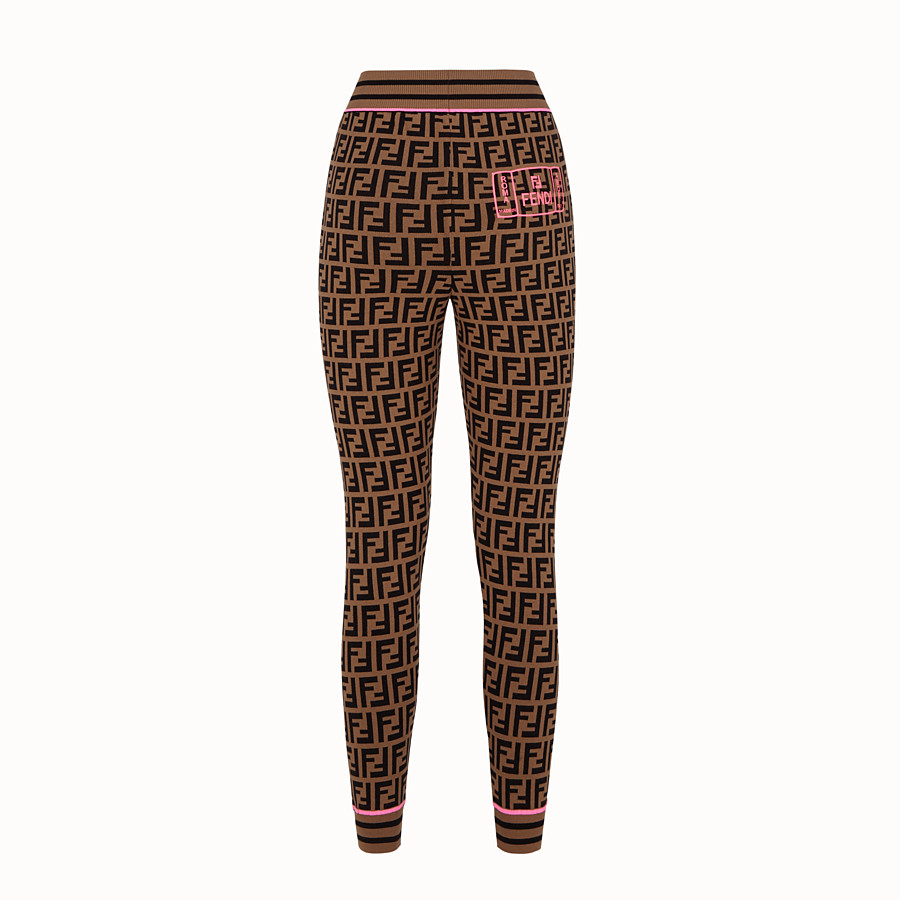 FENDI TROUSERS - Fendi Roma Amor fabric leggings - view 2 detail