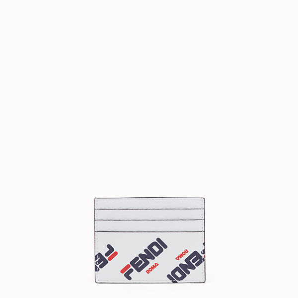 FENDI CARD HOLDER - White leather flat card holder - view 1 small thumbnail