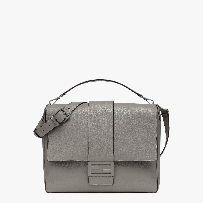 FENDI BAGUETTE MESSENGER BAG LARGE - Light gray leather bag - view 1 detail