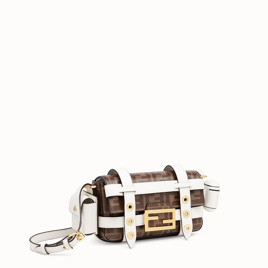 FENDI BAGUETTE MINI CAGE - Multicolour leather and fabric bag - view 4 detail
