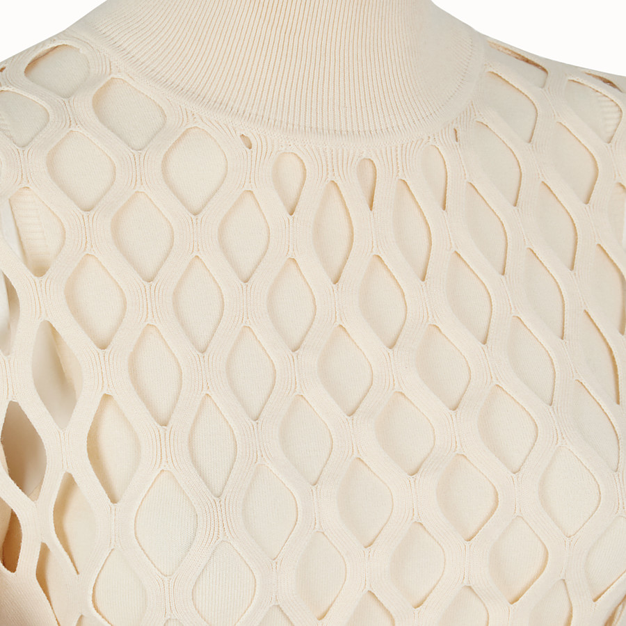 FENDI PULLOVER - Beige yarn jumper - view 3 detail