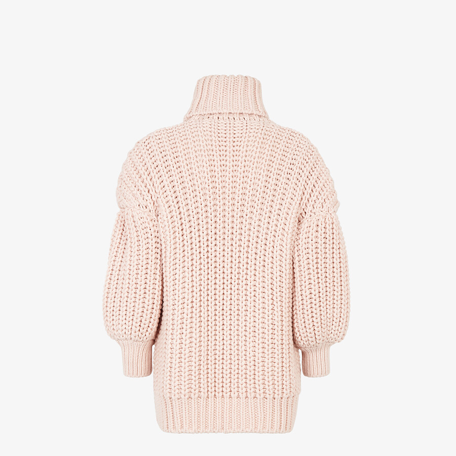 FENDI SWEATER - Pink wool sweater - view 2 detail