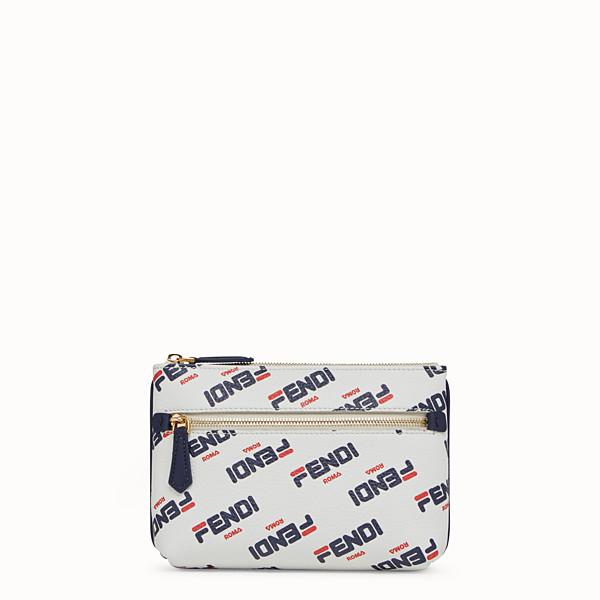 FENDI POUCH - Beauty case in pelle bianca - vista 1 thumbnail piccola