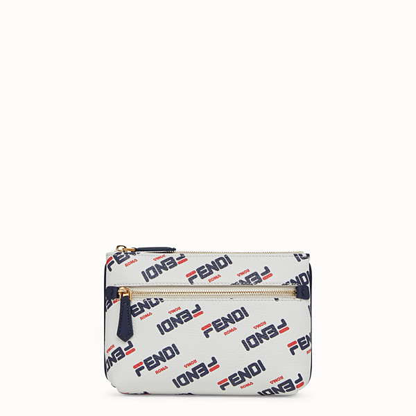 FENDI POUCH - White leather beauty case - view 1 small thumbnail