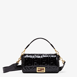 FENDI BAGUETTE - Black vinyl bag - view 1 thumbnail
