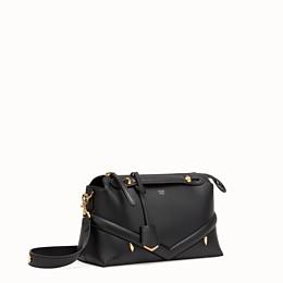 Black leather Boston bag - BY THE WAY REGULAR  17ba0c4b8b186