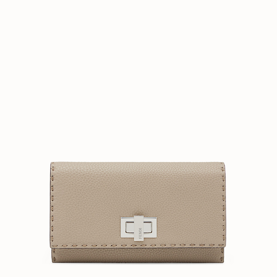 FENDI CONTINENTAL - Selleria cord-coloured continental wallet - view 1 detail