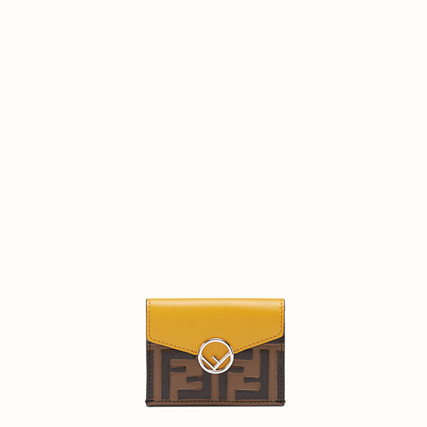 FENDI MICRO TRIFOLD - Yellow leather wallet - view 1 small thumbnail