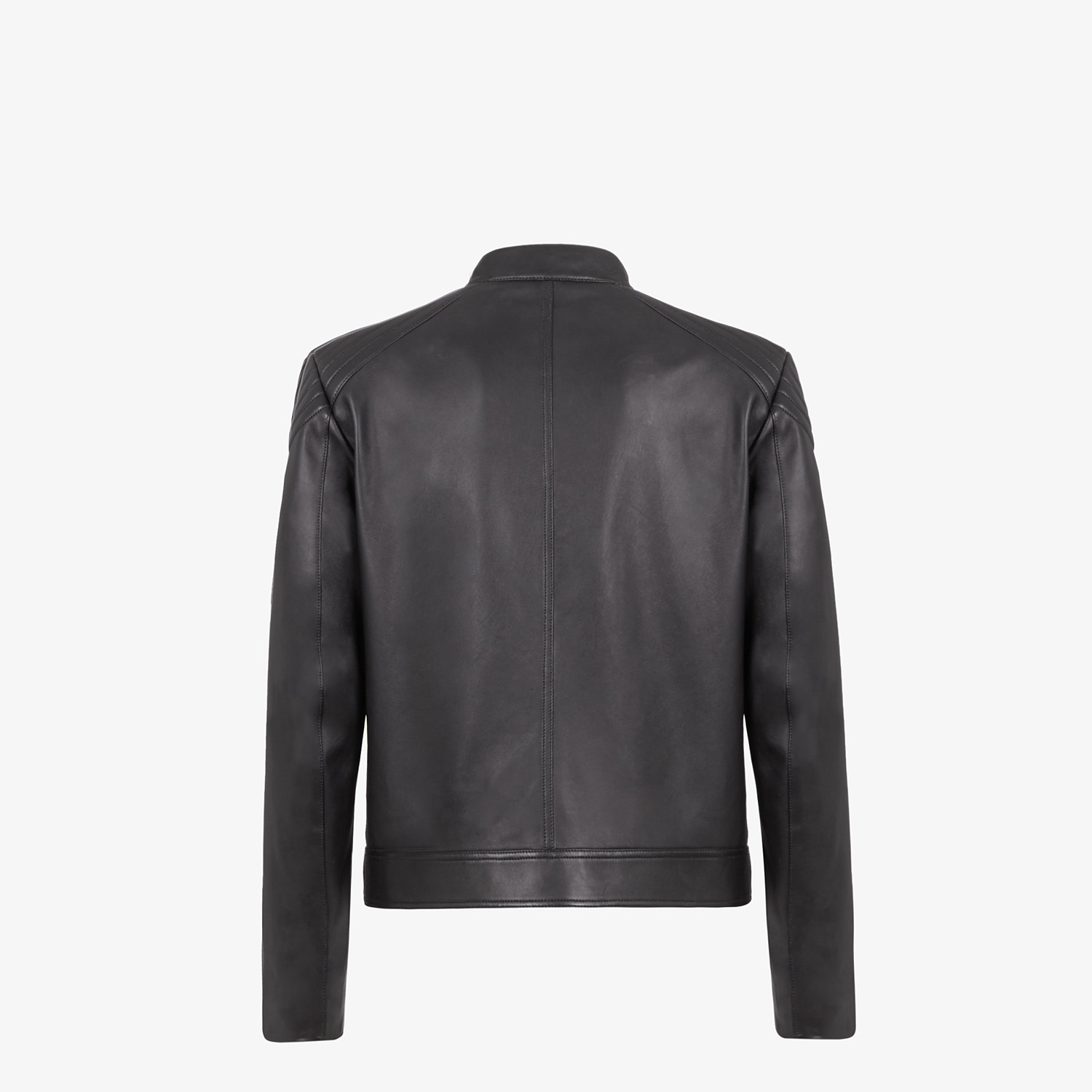 FENDI BIKER JACKET - Black leather jacket - view 2 detail