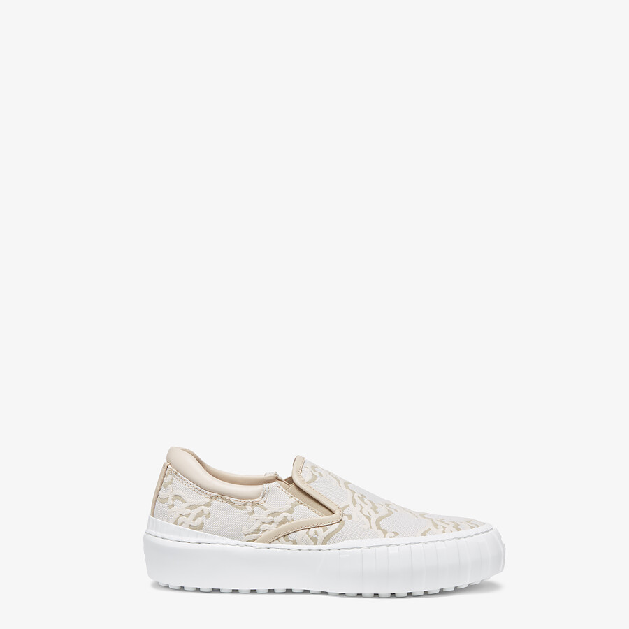 FENDI FENDI FORCE - White fabric sneakers - view 1 detail