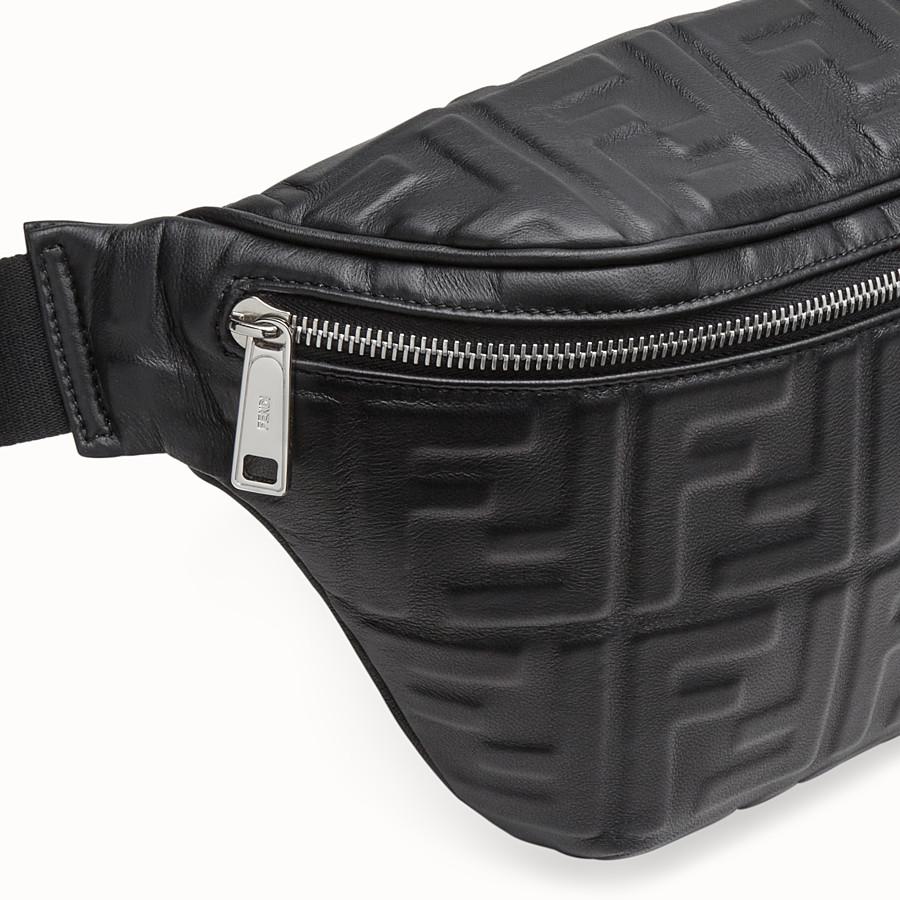 FENDI BELT BAG - Black nappa leather belt bag - view 5 detail