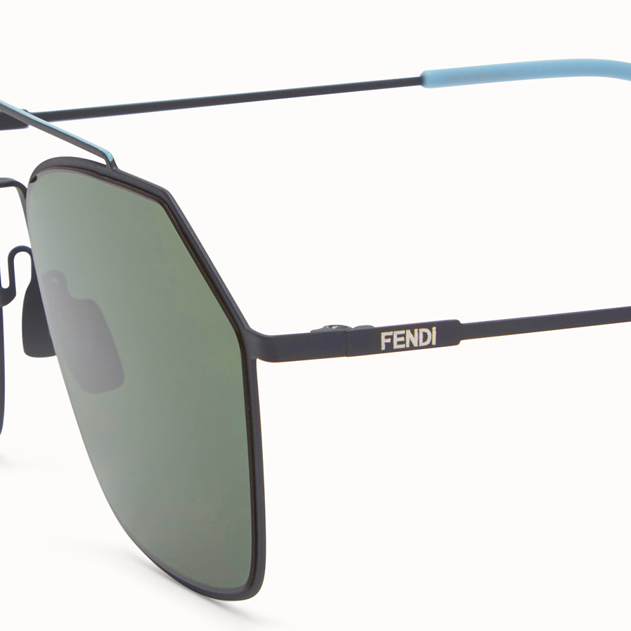 FENDI EYELINE - Grey Asian fit sunglasses - view 3 detail
