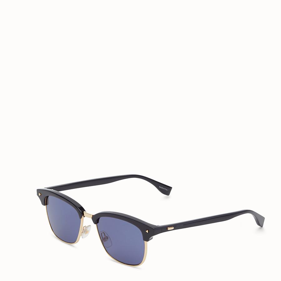 FENDI 펜디 썬 펀 - 블루와 로즈 골드 컬러의 선글라스 - view 2 detail