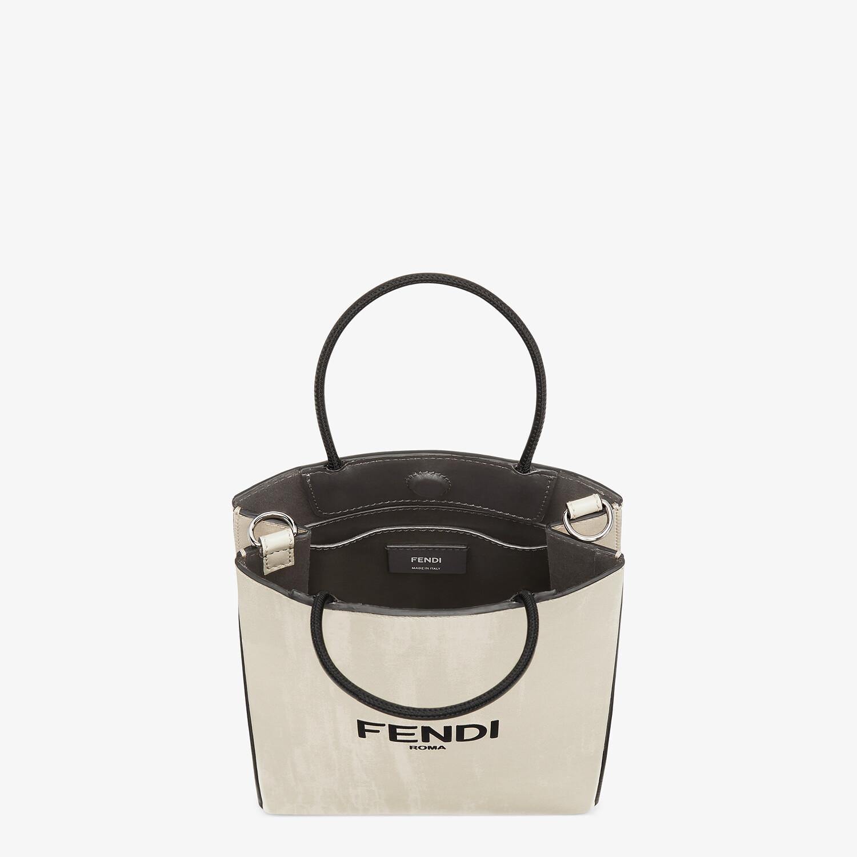 FENDI FENDI PACK SMALL SHOPPING BAG - White leather bag - view 4 detail