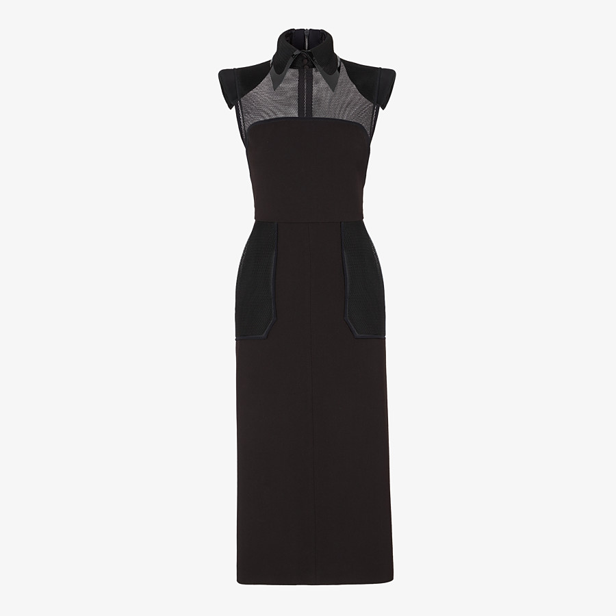 FENDI KLEID - Kleid aus Gabardine in Schwarz - view 1 detail