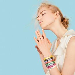 FENDI FF BRACELET - Gold and white coloured bracelet - view 2 thumbnail