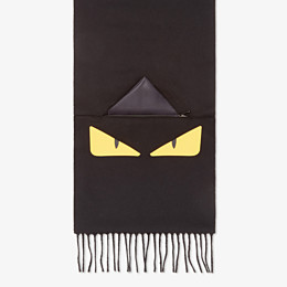 FENDI SCARF - Black wool scarf - view 1 thumbnail