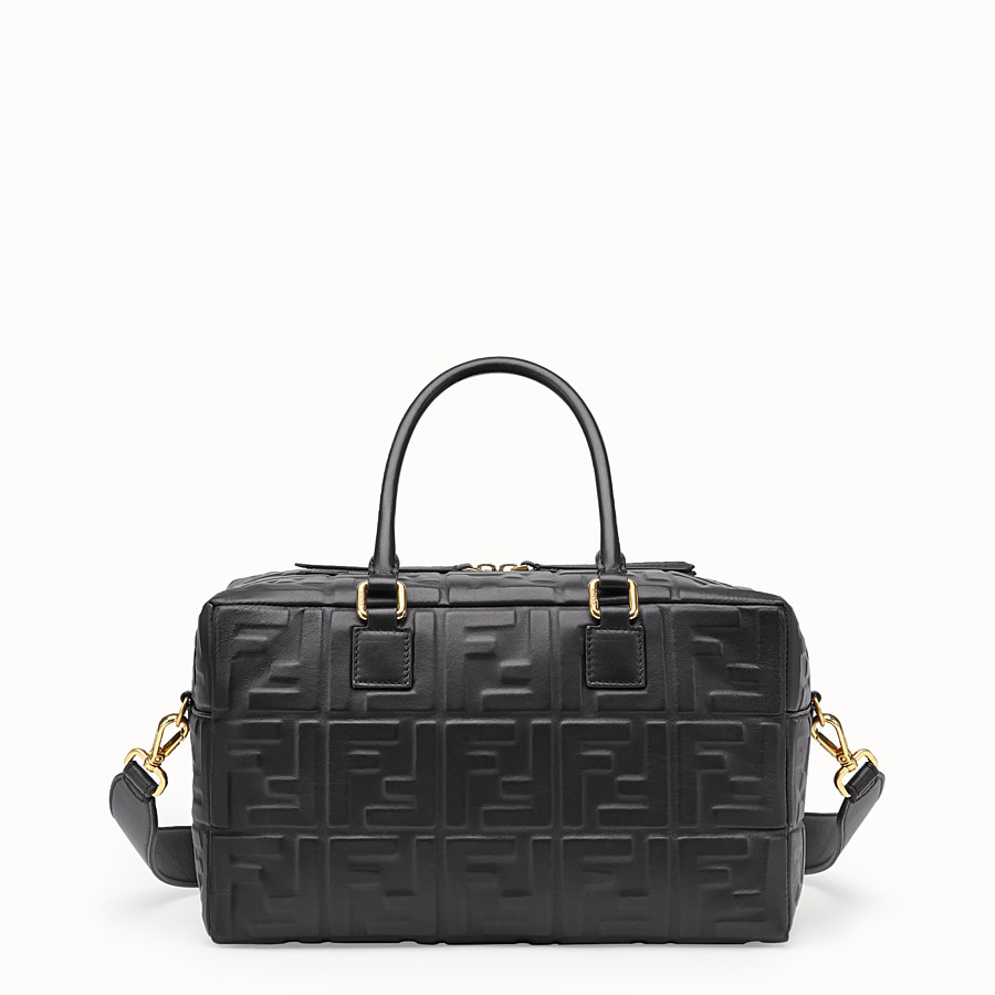 FENDI BOSTON SMALL - Black leather Boston bag - view 1 detail