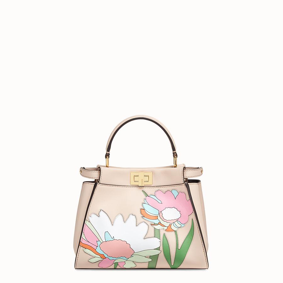 FENDI PEEKABOO ICONIC MINI - Pink leather bag - view 1 detail