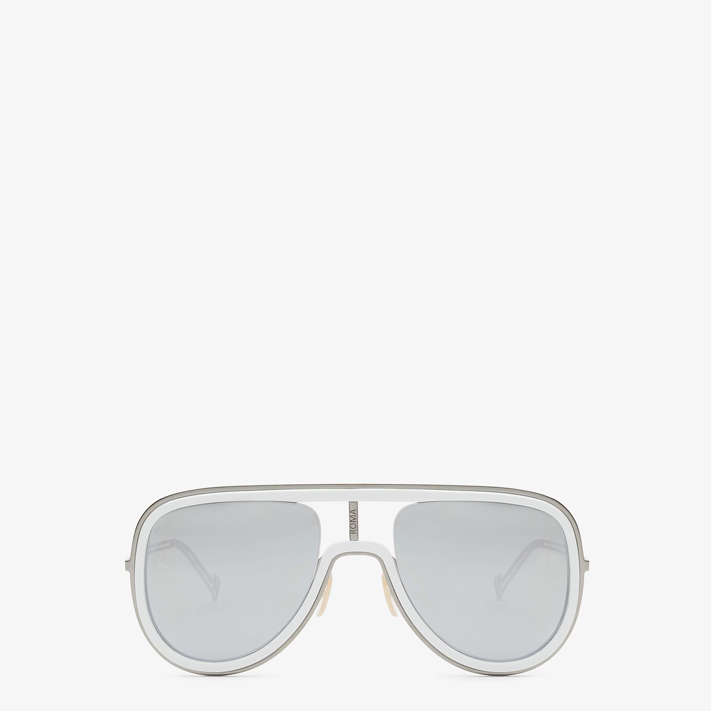 FENDI FUTURISTIC FENDI - White and ruthenium sunglasses - view 1 detail