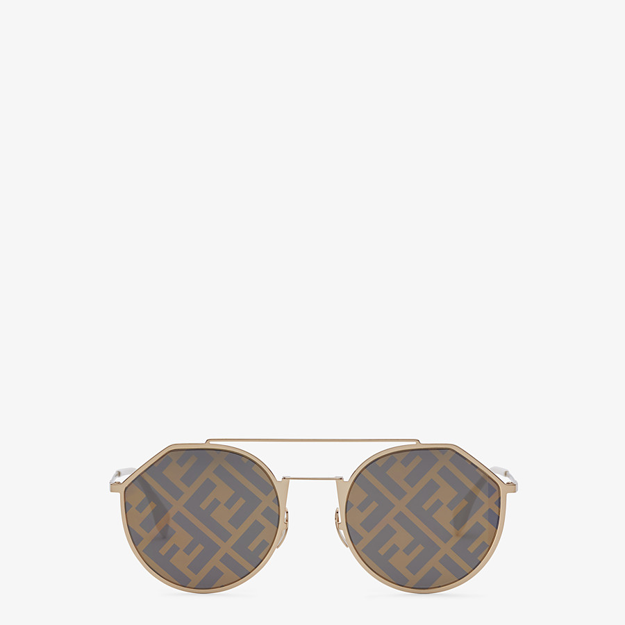 FENDI EYELINE - Gold-color sunglasses - view 1 detail