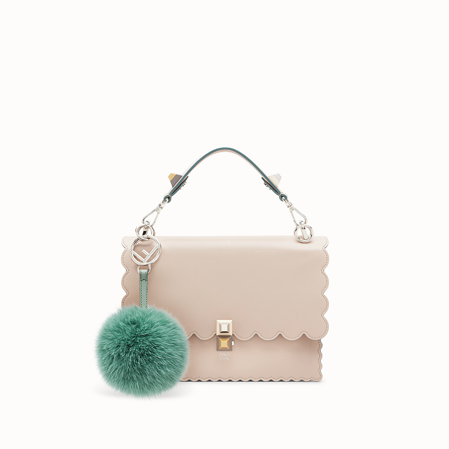 FENDI POM-POM CHARM - seafoam green fur - view 2 detail