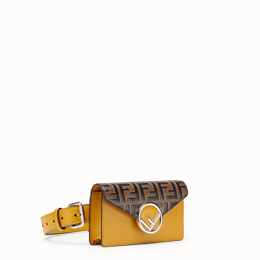 FENDI BELT BAG - Yellow leather belt bag - view 2 detail