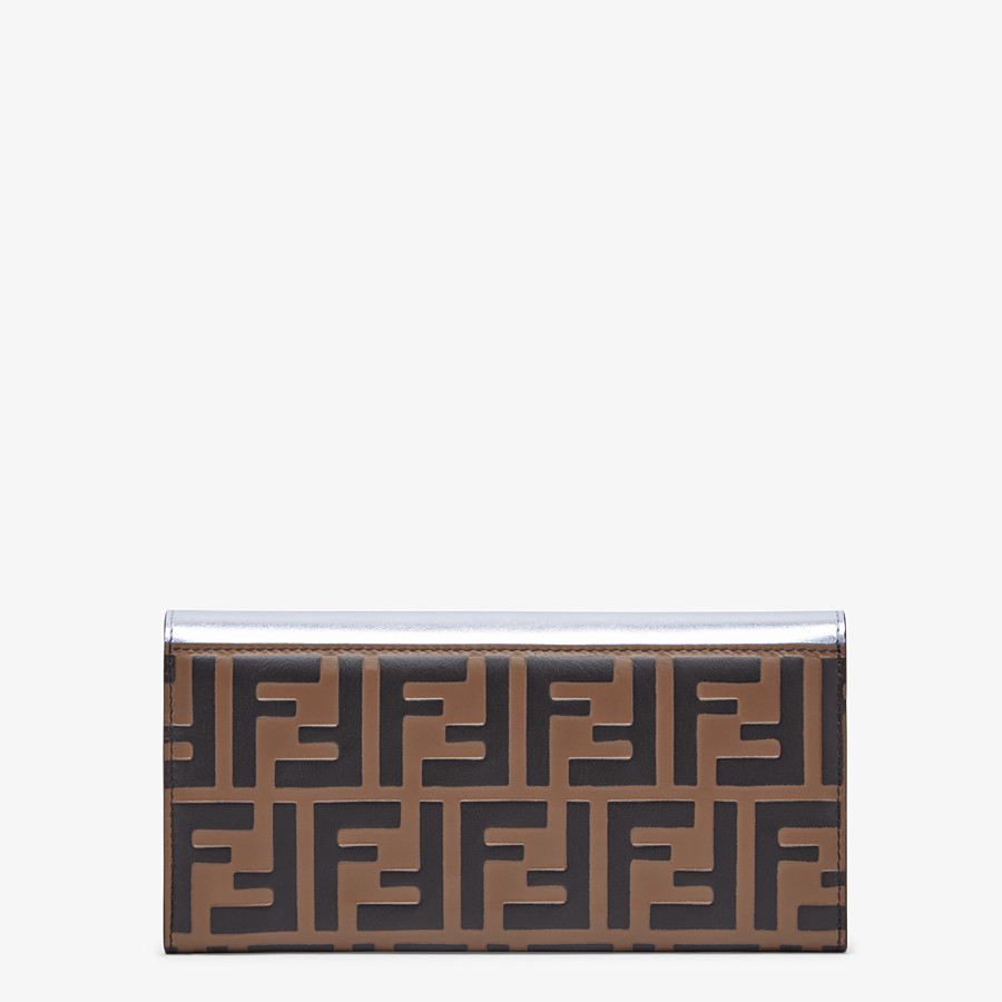 FENDI CONTINENTAL WITH CHAIN - Silver leather wallet - view 3 detail