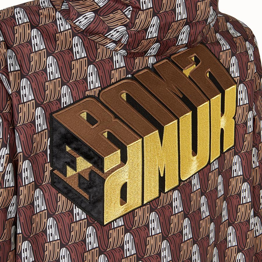 FENDI PARKA - Fendi Roma Amor fabric parka - view 3 detail