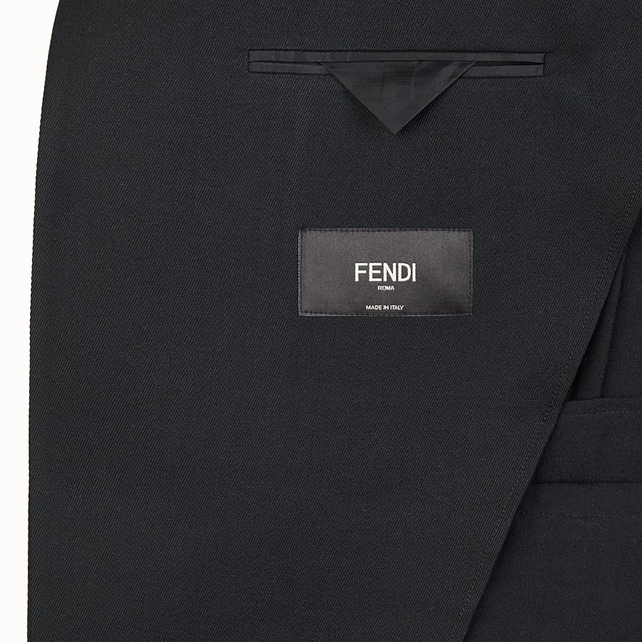 FENDI GIACCA - Blazer in twill nero - vista 5 dettaglio