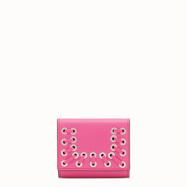 FENDI CARD HOLDER - Pink leather card holder - view 1 small thumbnail