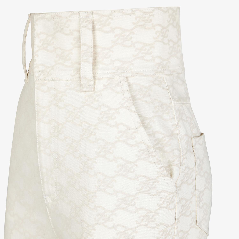 FENDI PANTS - White denim pants - view 3 detail