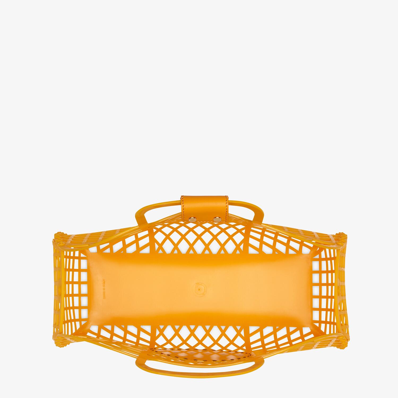 FENDI FENDI BASKET MEDIUM - Minibag in plastica riciclata arancione - vista 5 dettaglio