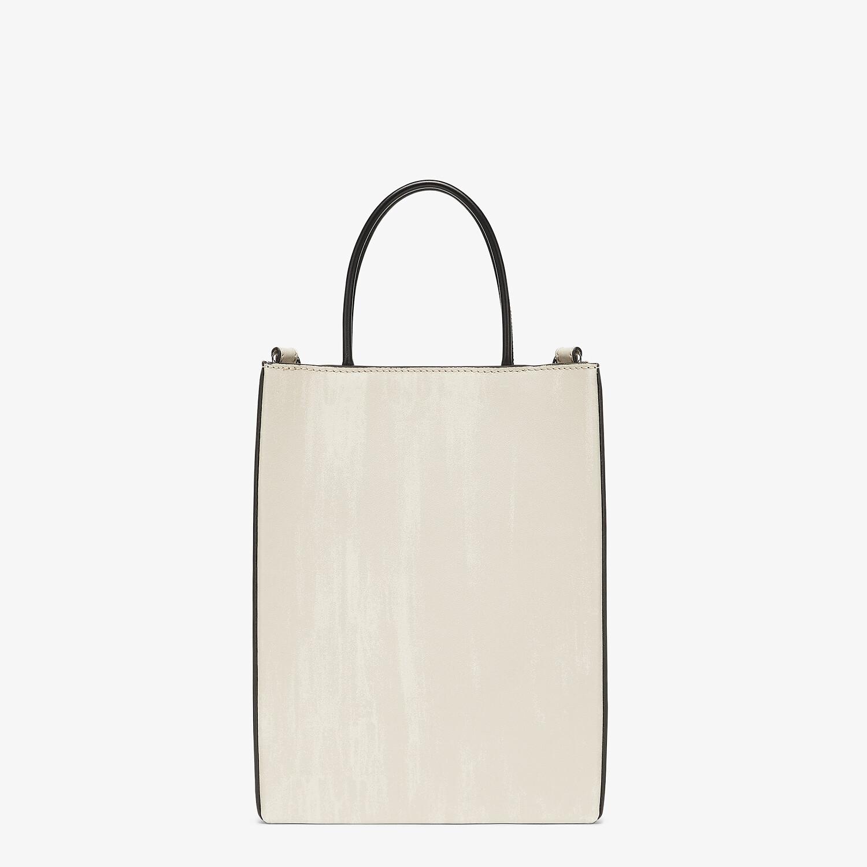 FENDI FENDI PACK SMALL SHOPPING BAG - White leather bag - view 3 detail