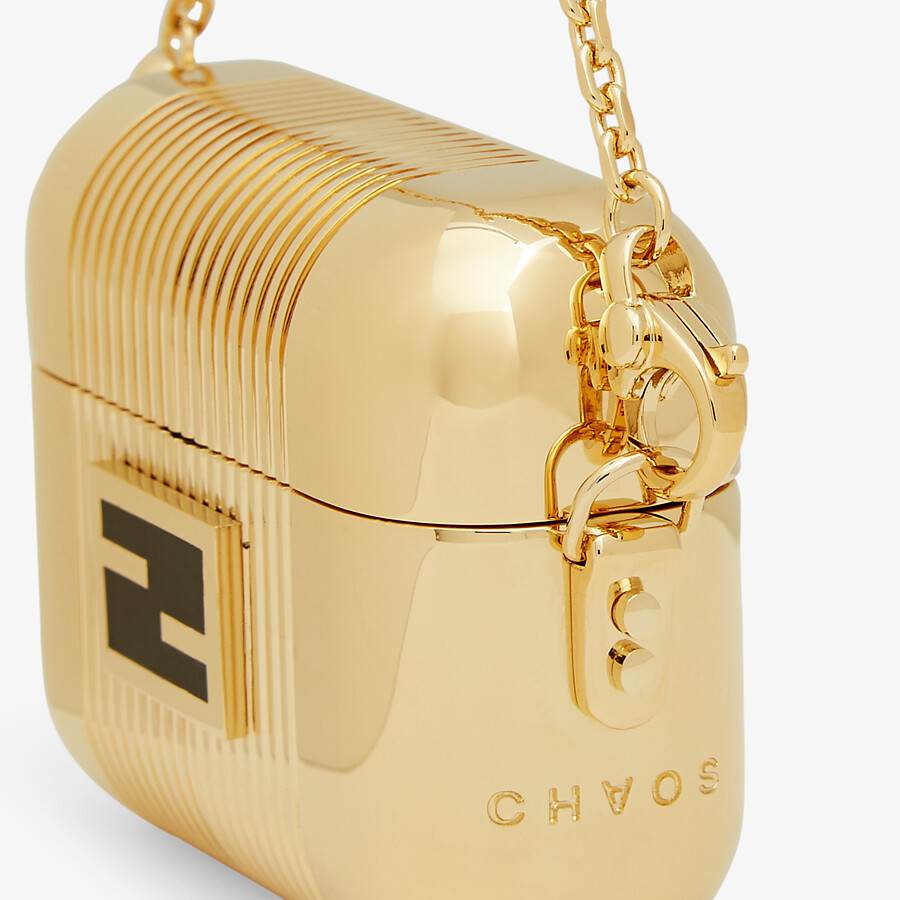 FENDI AIRPODS PRO HOLDER - Fendi X Chaos metal charm - view 3 detail