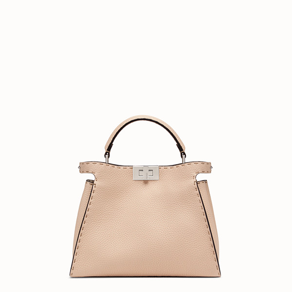FENDI PEEKABOO ICONIC ESSENTIALLY - Borsa in pelle rosa - vista 1 thumbnail piccola