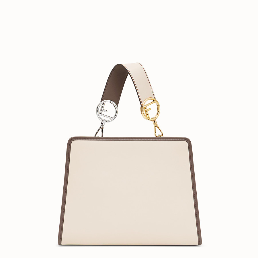 FENDI RUNAWAY SMALL - Pink leather bag with exotic details - view 3 detail