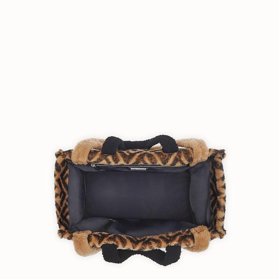 FENDI SHOPPER - Multicolour sheepskin bag - view 4 detail
