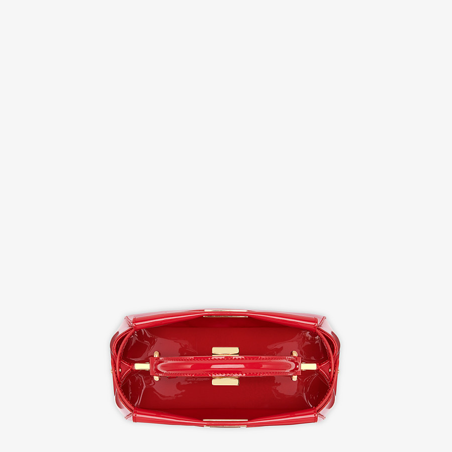 FENDI PEEKABOO ICONIC MINI - Tasche aus Lackleder in Rot - view 5 detail