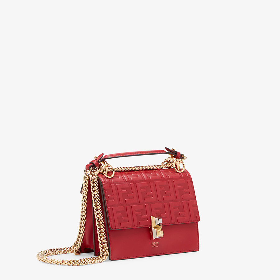 FENDI KAN I SMALL - Red leather mini bag - view 3 detail