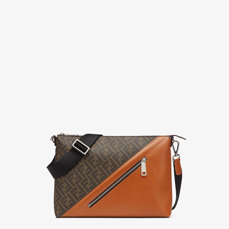 FENDI MESSENGER - Brown fabric bag - view 1 detail