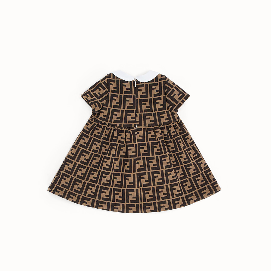 FENDI DRESS - Milano-stitch tobacco dress - view 2 detail