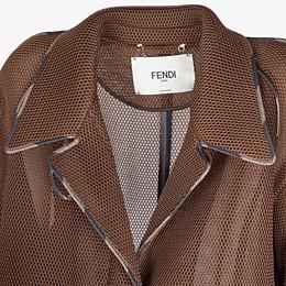 FENDI OVERCOAT - Coat in brown tech mesh - view 3 thumbnail