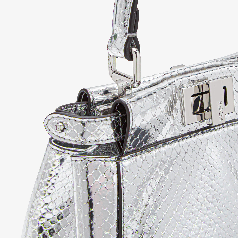 FENDI PEEKABOO ICONIC XS - Silver python mini-bag - view 5 detail
