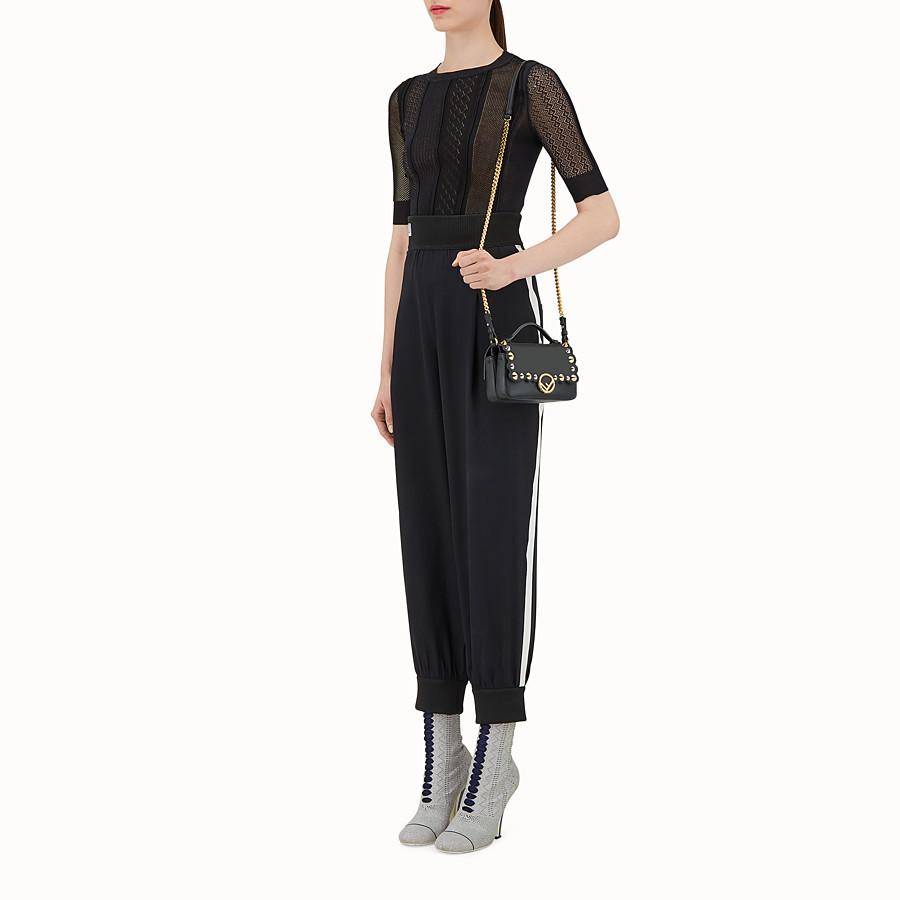 FENDI 雙面微型款式BAGUETTE - 黑色皮革迷你手袋 - view 4 detail
