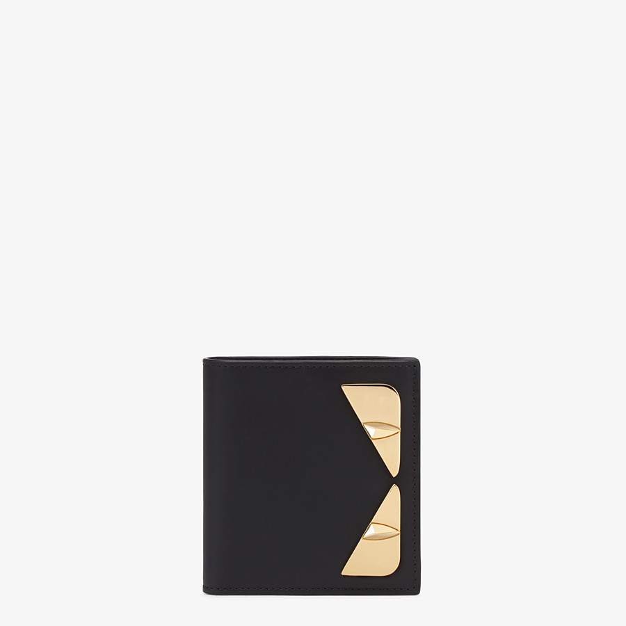 FENDI WALLET - Black leather bi-fold wallet - view 1 detail